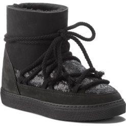 Buty INUIKII - Sneaker Sequin 70202-7 Black. Czarne buty zimowe damskie Inuikii, z nubiku, na niskim obcasie. Za 1129,00 zł.