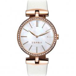 Zegarek kwarcowy w kolorze kremowo-perłowobiało-różowozłotym. Białe, analogowe zegarki damskie Esprit Watches, ze stali. W wyprzedaży za 272,95 zł.