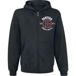 Pantera Skull Circle Bluza z kapturem rozpinana czarny. Czarne bluzy męskie rozpinane Pantera, m, z motywem zwierzęcym, z kapturem. Za 184,90 zł.
