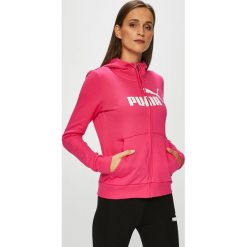 Puma - Bluza. Różowe bluzy męskie rozpinane Puma, l, z nadrukiem, z bawełny, z kapturem. W wyprzedaży za 219,90 zł.