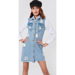 Sukienki hiszpanki: Minkpink Sukienka dżinsowa Dust Storm – Blue