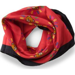 Chusta MOSCHINO - 03548  002. Czerwone chusty damskie MOSCHINO, z jedwabiu. Za 369,00 zł.