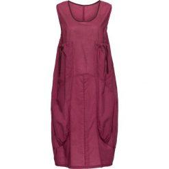 Sukienki: Sukienka bombka bonprix bordowo-biały w paski