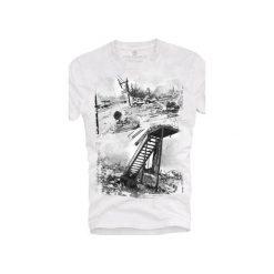 T-shirt UNDERWORLD Ring spun cotton Hurricane. Szare t-shirty męskie z nadrukiem marki Underworld, m, z bawełny. Za 59,99 zł.