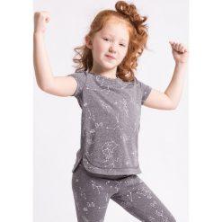Bluzki dziewczęce z nadrukiem: Koszulka sportowa dla małych dziewczynek JTSD302Z - szary melanż