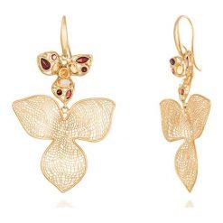Kolczyki damskie: Wspaniałe Kolczyki Złote – złoto żółte 750, Cytryn…