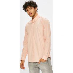 Lacoste - Koszula. Szare koszule męskie na spinki Lacoste, l, z bawełny, z klasycznym kołnierzykiem, z długim rękawem. W wyprzedaży za 349,90 zł.