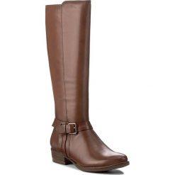 Oficerki TAMARIS - 1-25521-29 Nut 440. Brązowe buty zimowe damskie marki Tamaris, z materiału, na obcasie. W wyprzedaży za 379,00 zł.