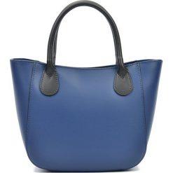 Torebki i plecaki damskie: Skórzanan torebka w kolorze granatowym – (S)20,5 x (W)29 x (G)9 cm