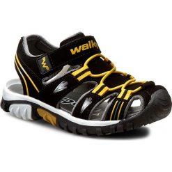 Sandały męskie skórzane: Sandały WALKY - CP44-5012 Czarny