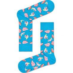 Happy Socks - Skarpety Banana. Niebieskie skarpetki męskie Happy Socks, z bawełny. W wyprzedaży za 27,90 zł.
