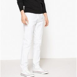 Dżinsy slim. Brązowe jeansy męskie slim marki La Redoute Collections. Za 141,08 zł.