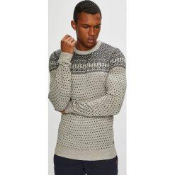 Blend - Sweter. Brązowe swetry klasyczne męskie marki Blend, l, z bawełny, bez kaptura. Za 169,90 zł.