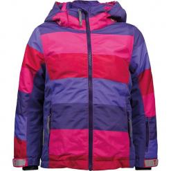 """Kurtka narciarska """"Madison"""" w kolorze fioletowo-różowym. Czerwone kurtki dziewczęce przeciwdeszczowe marki Reserved, z kapturem. W wyprzedaży za 212,95 zł."""