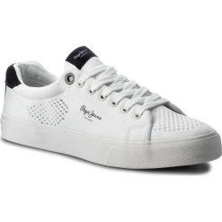 Tenisówki PEPE JEANS - Nate Summer PMS30402 White 800. Białe tenisówki męskie Pepe Jeans, z gumy. W wyprzedaży za 189,00 zł.