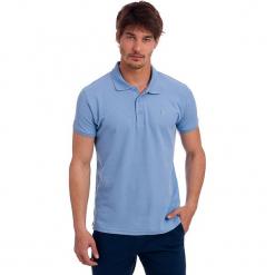 Koszulka polo w kolorze błękitnym. Niebieskie koszulki polo marki GALVANNI, l, z okrągłym kołnierzem. W wyprzedaży za 86,95 zł.