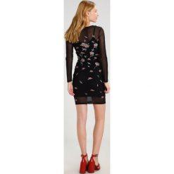 Sukienki hiszpanki: Bardot EMBROIDERY Sukienka etui black