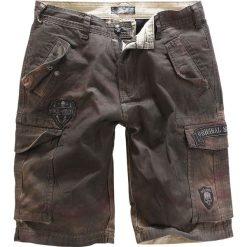 Spodenki i szorty męskie: Rock Rebel by EMP Army Vintage Shorts Krótkie spodenki brązowy