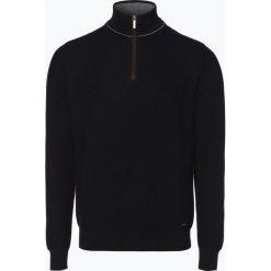 Bugatti - Sweter męski, niebieski. Szare swetry klasyczne męskie marki Recman, m, z kołnierzem typu troyer. Za 449,95 zł.
