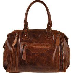 Torebki klasyczne damskie: Skórzana torebka w kolorze jasnobrązowym – 36 x 27 x 11 cm