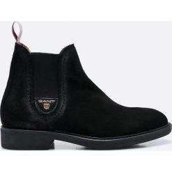 Gant - Botki Lydia. Czarne buty zimowe damskie marki GANT, z gumy, na obcasie. W wyprzedaży za 399,90 zł.