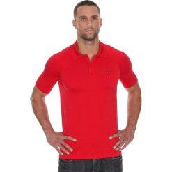 Brubeck Koszulka męska polo Prestige z krótkim rękawem czerwona r. L (SS10920). Czerwone koszulki polo marki Brubeck, l, z krótkim rękawem. Za 171,23 zł.
