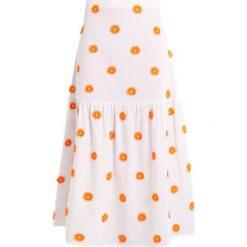 Stefanel GONNA LUNGA CON BALZA Długa spódnica base orange. Białe długie spódnice Stefanel, z bawełny. W wyprzedaży za 371,40 zł.