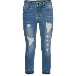 Dżinsy SKINNY, dł. 3/4 bonprix niebieski bleached. Niebieskie boyfriendy damskie bonprix, z jeansu. Za 109,99 zł.