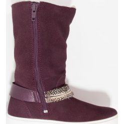 Ecco ECCO S7 Kozaki mauve. Niebieskie buty zimowe damskie marki Roxy, z tworzywa sztucznego, na wysokim obcasie. W wyprzedaży za 342,30 zł.
