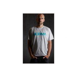 T-shirt grey/blue. Szare t-shirty męskie z nadrukiem Norma, m. Za 75,00 zł.