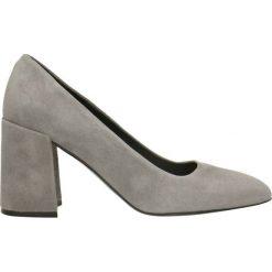 Czółenka HARUMI. Szare buty ślubne damskie marki Gino Rossi, ze skóry, na słupku. Za 224,95 zł.