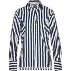 Bluzki damskie: Bluzka z perełkami bonprix ciemnoniebiesko-biały w paski