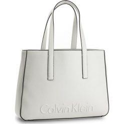 Shopper bag damskie: Torebka CALVIN KLEIN BLACK LABEL – Edge Medium Shopper K60K603986 101
