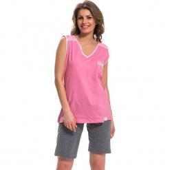 Piżama w kolorze różowo-szarym - top, szorty. Czerwone piżamy damskie Doctor Nap, l. W wyprzedaży za 72,95 zł.