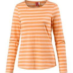 Koszulka w kolorze pomarańczowym. Brązowe t-shirty damskie OCK, w paski, z okrągłym kołnierzem. W wyprzedaży za 65,95 zł.
