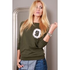 Bluzy damskie: Bluza khaki 9816