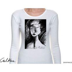 Bluzki, topy, tuniki: Szkic - damska koszulka z długim rękawem