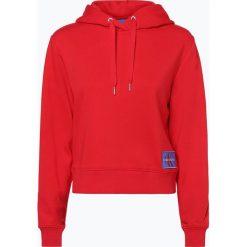 Calvin Klein Jeans - Damska bluza nierozpinana, czerwony. Niebieskie bluzy z kapturem damskie marki Calvin Klein Jeans. Za 499,95 zł.