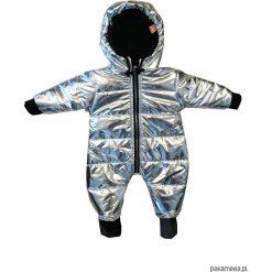 Kombinezon zimowy srebrny - ściągacze. Szare kombinezony niemowlęce Pakamera, na zimę, z polaru. Za 219,00 zł.