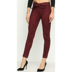 Spodnie damskie: Bordowe Spodnie Fuss