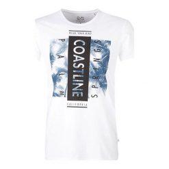 T-shirty męskie z nadrukiem: Q/S Designed By T-Shirt Męski M ,Biały