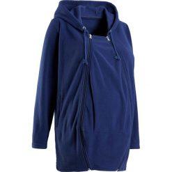Bluza z polaru ciążowa, z wstawką niemowlęcą na nosidełko bonprix kobaltowy. Niebieskie bluzy ciążowe marki bonprix, z polaru. Za 99,99 zł.
