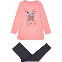 Wzorzysta piżama z bawełny 3-12 lat. Czerwone bielizna dziewczęca La Redoute Collections, s, z nadrukiem, z bawełny, z długim rękawem. Za 64,64 zł.