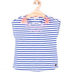 Koszulka. Białe bluzki dziewczęce bawełniane marki COCCODRILLO, m, z okrągłym kołnierzem. Za 29,90 zł.