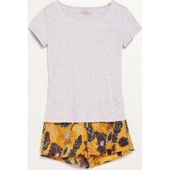 Piżama z szortami - Żółty. Żółte piżamy damskie marki Reserved, l. W wyprzedaży za 39,99 zł.