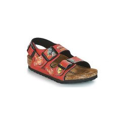 Sandały Dziecko  Birkenstock  MILANO. Czerwone sandały chłopięce Birkenstock. Za 202,30 zł.