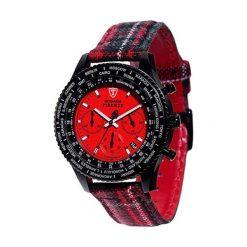 """Zegarki męskie: Zegarek """"DT1071-A"""" w kolorze czerwono-czarnym"""