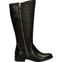 Kozaki ocieplane - DORISJ1501 BL. Czarne buty zimowe damskie marki Venezia, ze skóry. Za 259,00 zł.