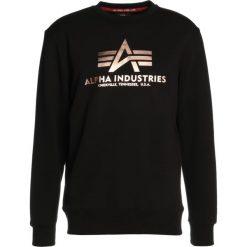 Bejsbolówki męskie: Alpha Industries BASIC SWEATER Bluza black/copper