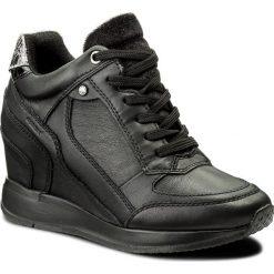 Sneakersy GEOX - D Nydame A D540QA 00085 C9997 Black. Czarne sneakersy damskie Geox, z materiału. Za 589,00 zł.